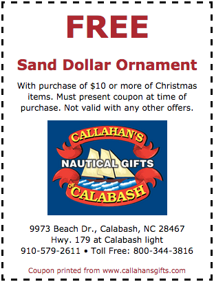 free sand dollar ornament