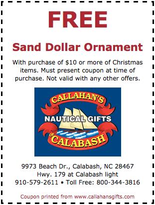 free sand dollar ornament