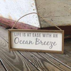 Ocean Breeze sign