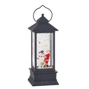 Santa & Snowman lantern